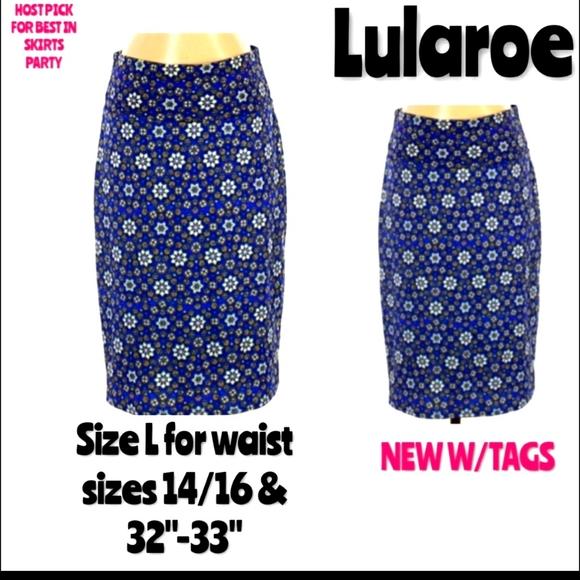Lularoe Skirt Size Large Cassie Pencil Midi NWT
